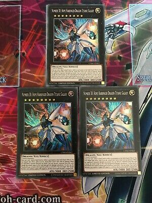 Yu-Gi-Oh 3x Super Number 38: Hope Harbinger Dragon Titanic Galaxy CYHO-ENSE2