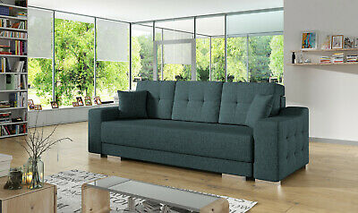 Sofa Bed Three Seater Storage Sprung Seat Fabric Many Colours FREE Assembly HIT