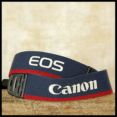 Canon EOS Digital Blue Red Wide Camera strap FREE UK POSTAGE