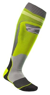 2020 Alpinestars Mx Plus 1 Boot Socks Yellow Grey Motocross Mx Enduro Cheap New