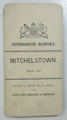 1899 Old OS Ordnance Survey Ireland One-Inch Second Edition Map 165 Mitchelstown