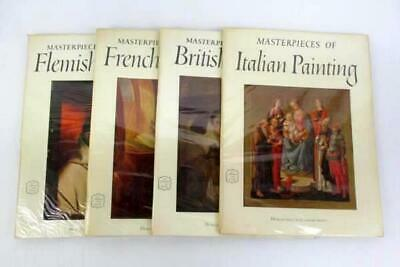 Lot 4 Abrams Art Books Masterpieces of Italian British French Flemish Painting