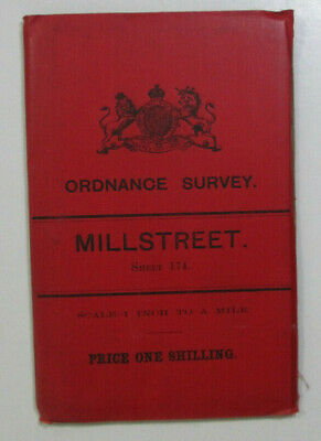 1899 Old OS Ordnance Survey Ireland One-Inch Second Edition Map 174 Millstreet