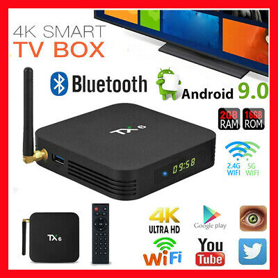 TX6 Android 9.0 Smart TV BOX Allwinner H6 2GB 16GB Quad Core Dual WIFI 2.4G 5G