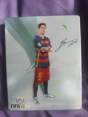 Fifa 16 special edition Leo Messi steelbook PS4 Playstation 4 game VGC