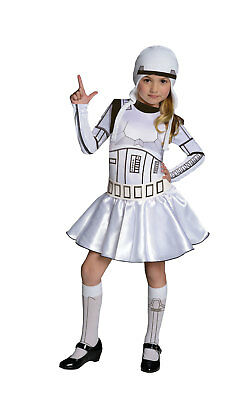 Girls Kids Childs Storm Trooper Girl Fancy Dress Costume Outfit Rubies Star Wars