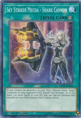 Yugioh 2019 Gold Sargophagus Mp19 Sky Striker Mecha Shark Cannon Common