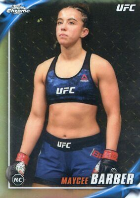 2019 Topps Ufc Chrome Rookie Rc Insert Refractor Knockout Maycee Barber