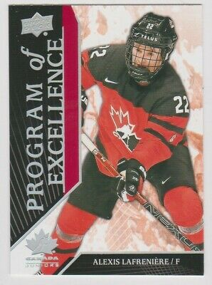 2019 Upper Deck Team Canada Program Of Excellence #115 Alexi Lafreniere