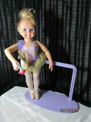 """Nice My Pretty Ballerina Doll Tyco 16"""" With Ballet Bar Shoes Etc"""