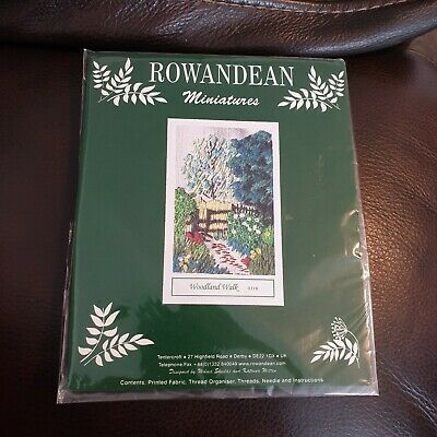 Rowandean miniatures Embroidery Kit woodland walk