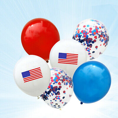 25pcs Decor Printing American National Flag Balloon for Festival Party Gathering