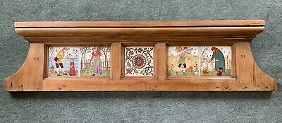 Stunning Victorian Hand Painted CRAVEN DUNNILL Tile Panel Walter Crane c1880