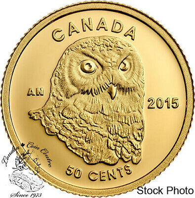 Canada 2015 50 Cent Owl Gold Coin