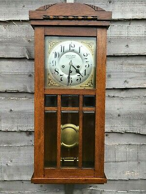 Rare Vintage Antique Junghans Westminster Clock c1912 Working See Video