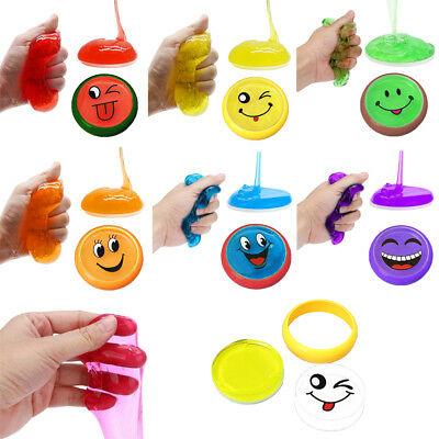 12PCS Creative Emoji Crystal Clay Jelly Slime Funny Mud Educational Toy