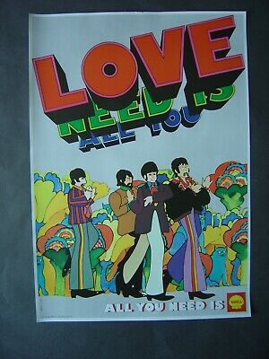 1969- Affiche Beatles - All you need is love - All you need is Shell