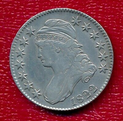 1822 Capped Bust Silver Half Dollar **Nicely Circulated** Free Shipping!!