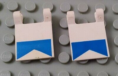 New LEGO Lot of 2 White 2x2 Clip On Flag Pieces