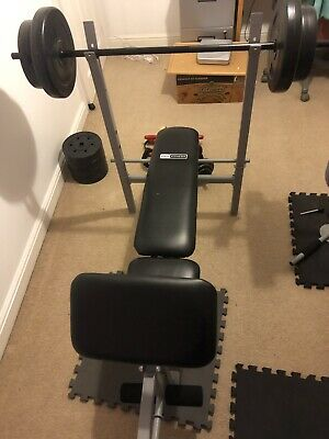 Pro Fitness Weight Lifting Bench With Weights Dumbbells - Fitness Gym