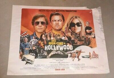 Once Upon A Time In Hollywood Original Uk Quad Poster Tarantino