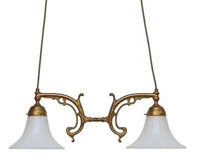 Country Home Berliner Ceiling Light Pendant Light Brass Lamp Brass Lamp Opalglas