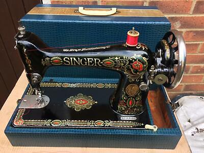Rare Singer 66 'Red Eye Decals' Sewing Machine Antique/Vintage sewing machine,