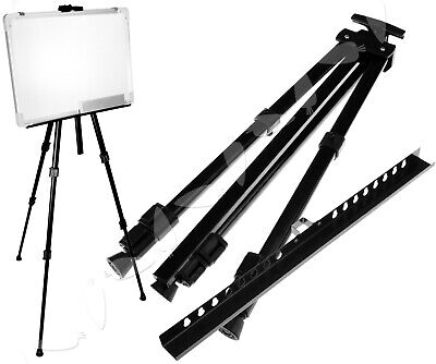 Folding Artist Telescopic Studio Painting Easel Tripod Display Stand w/ Case