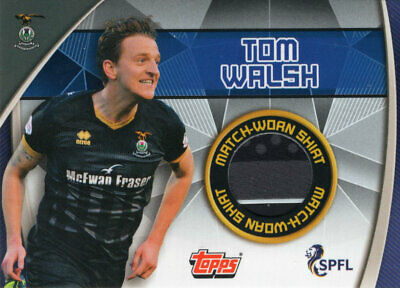 Topps Spfl Match Attax 2019/20 19/20 Tom Walsh Match Worn Relic Card - Inverness