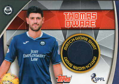Topps Spfl Match Attax 2019/20 19/20 Thomas O'ware Match Worn Relic Card Partick