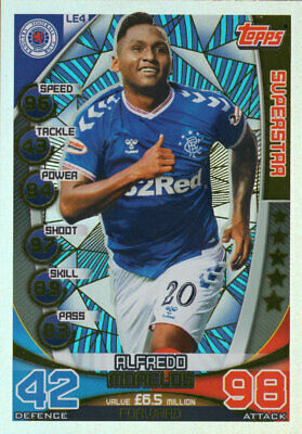 Topps Spfl Match Attax 2019/20 19/20 Alfredo Morelos Superstar Card - Rangers