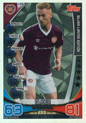 Topps Spfl Match Attax 2019/20 19/20 Oliver Bozanic Silver Limited Edition Card