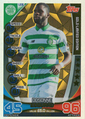 Topps Spfl Match Attax 2019/20 19/20 Odsonne Edouard Gold Limited Edition Card