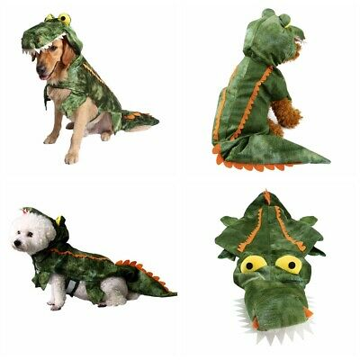Pet Puppy Dog Costume Halloween Crocodile Clothes Hoodie Coats Jumpsuits Jacket