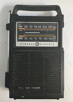 Vintage GE General Electric AM FM Handheld RADIO Two-Way-Power ACBattery 7-2800A