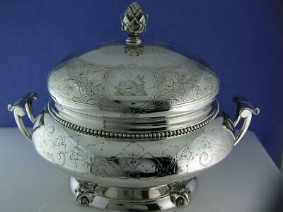Incredible Sterling TIFFANY & CO Butter Dish Ivy w/ animal crest 550 Broadway