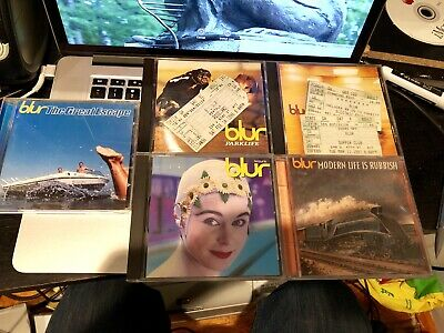 Collection Lot 5 Blur CD + 3 Concert Ticket Collection