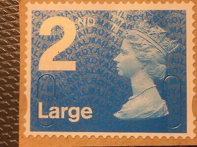 2nd CLASS Large GB security stamp Rare Code ROYBL UNFRANKED (LOT AB3)
