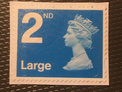 2nd CLASS Large GB security stamp Rare Code ROYBL UNFRANKED (LOT AB4)