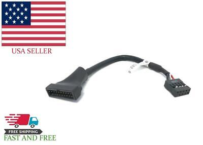 USB 3.0 20 Pin male to USB 2.0 9 Pin Female Motherboard Converter Cable Housing