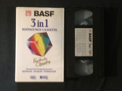 Basf 3 in 1 Reinigungs VHS Video Cassette Cleaner Cleaning