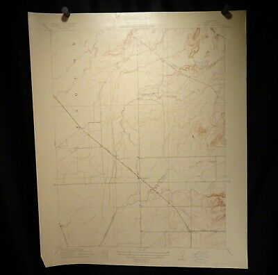 1912 Geological Survey Topography Map California, Butte Dry Creek  -  57399