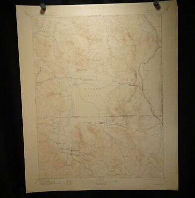 1913 Geological Survey Topography Map California, Sierraville  -  57400