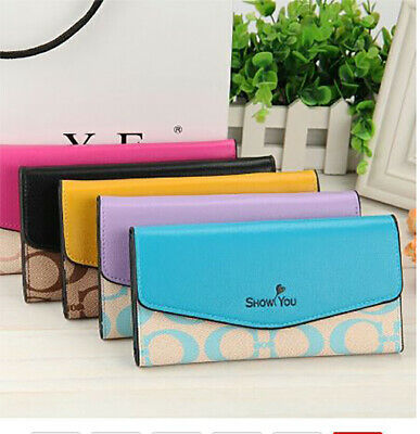 Wallet RFID Trifold Ladies Luxury Travel Purse Credit Card Organizer for Women