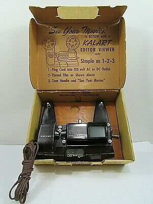 Vintage Kalart Editor Viewer Eight 8mm Film Splicer