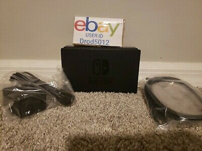 Genuine Nintendo Switch Charging Dock + AC Adapter Power Cable + HDMI OEM Set