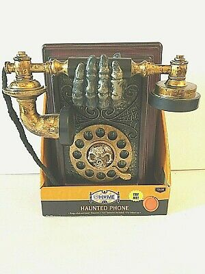 Haunted Phone lifts up vibrates,rings, talks, and laughs Halloween Wall Prop New