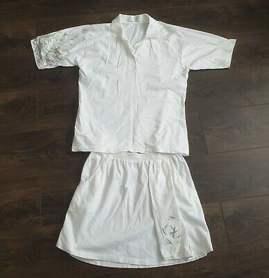 Fred Perry vintage tennis outfit Polo shirt & skirt 16uk 80s retro vtg Wimbledon