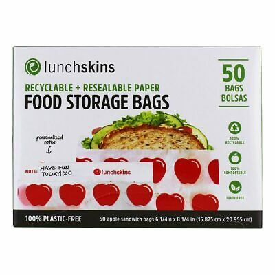 LunchSkins - Recyclable + Resealable Paper Food Storage Bags Shark Design