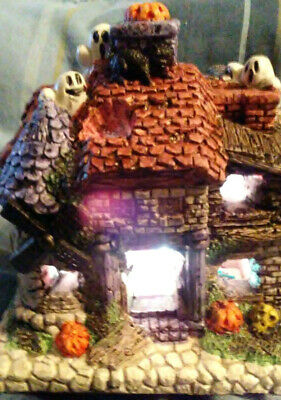 Ghostly Haunted House- LED Color Changing Lights Halloween Holiday Decor